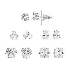 Apt. 9® Cubic Zirconia Stud Earring Set