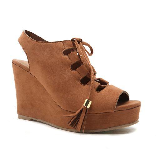 Qupid Finch Women's Wedge Sandals