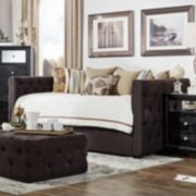 HomeVance Vanderbilt Twin Tufted Trundle Day Bed
