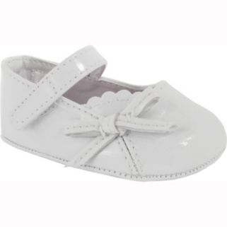Baby Girl Wee Kids White Patent Leather Mary Jane Crib Shoes