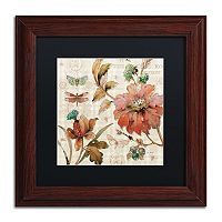 Trademark Fine Art French Country V Wood Finish Framed Wall Art