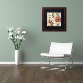 Trademark Fine Art French Country V Wood Finish Framed Wall Art