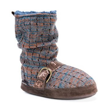 MUK LUKS Women's Lia Knit Boot Slippers
