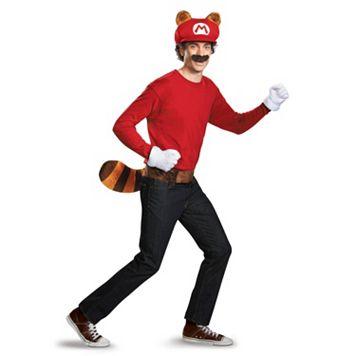 Adult Super Mario Brothers Mario Tanooki Costume Kit