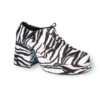 Adult Platform Zebra Costume Shoes
