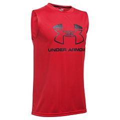 Boys 8-20 Under Armour Logo Muscle Tee