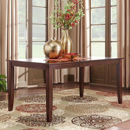 HomeVance Ogden Extendable Parson Leg Dining Table