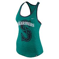 Women's Nike Seattle Mariners Marled Racerback Tank