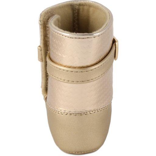 Baby Girl Wee Kids Metallic Boot Crib Shoes