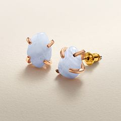 LC Lauren Conrad Blue Quartz Stud Earrings