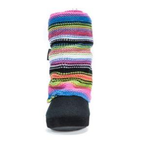 MUK LUKS Women's Trisha Striped Boot Slippers