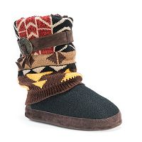 MUK LUKS Women's Sofia Knit Boot Slippers