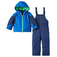 Boys 4-7 Carter's Colorblock Jacket & Bib Snow Pants Set
