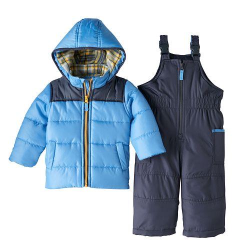 ebf178aa3 Toddler Boy Carter s Heavyweight Jacket   Bib Snow Pants Snowsuit Set