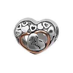 Individuality Beads Sterling Silver 'Mom' Heart Bead