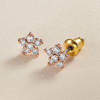 LC Lauren Conrad Runway Collection Cubic Zirconia Flower Stud Earrings