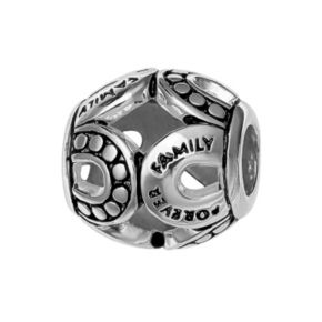 "Individuality Beads Sterling Silver ""Forever Family"" Openwork Bead"
