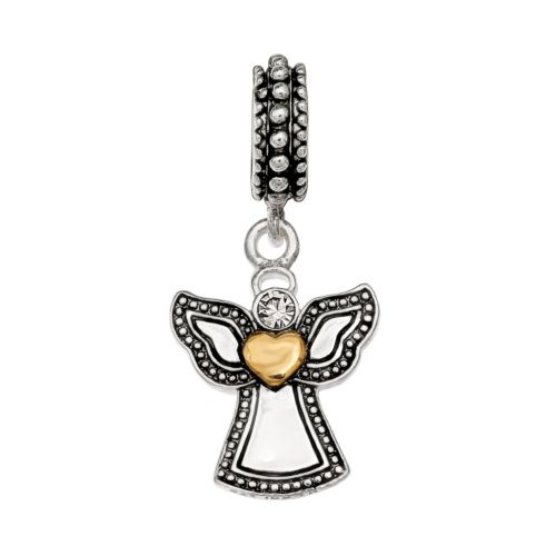 Individuality Beads Sterling Silver Crystal and Angel Charm