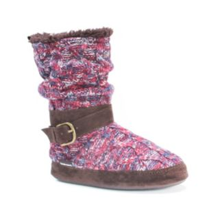 MUK LUKS Women's Lisen Knit Boot Slippers