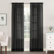 No918 Emily Solid Sheer Voile Window Curtain