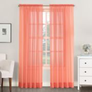 No 918 1-Panel Emily Solid Sheer Voile Window Curtain