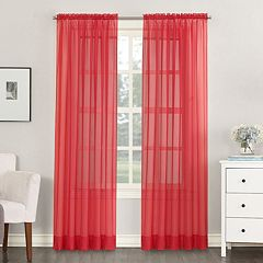 No918 Solid Voile Window Curtain