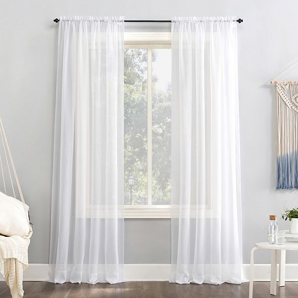 No 918 1 Panel Emily Solid Sheer Voile Window Curtain