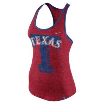 Women's Nike Texas Rangers Marled Racerback Tank