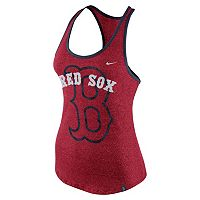 Women's Nike Boston Red Sox Marled Racerback Tank