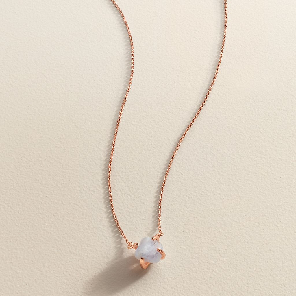 LC Lauren Conrad Runway Collection Blue Quartz Necklace