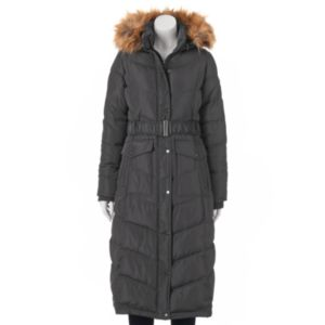 Juniors' Madden Girl Faux-Fur Hooded Maxi Puffer Jacket