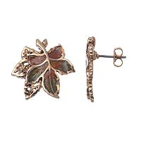 Layered Openwork Leaf Drop Earrings
