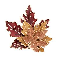 Tiered Maple Leaf Pin