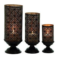 Rustic Trellis Candle Holder 3-piece Set
