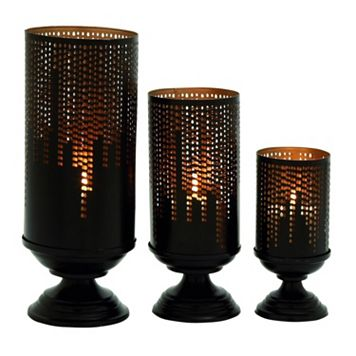 Rustic Skyline Candle Holder 3-piece Set