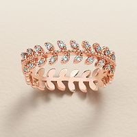 LC Lauren Conrad Runway Collection Cubic Zirconia Branch Ring