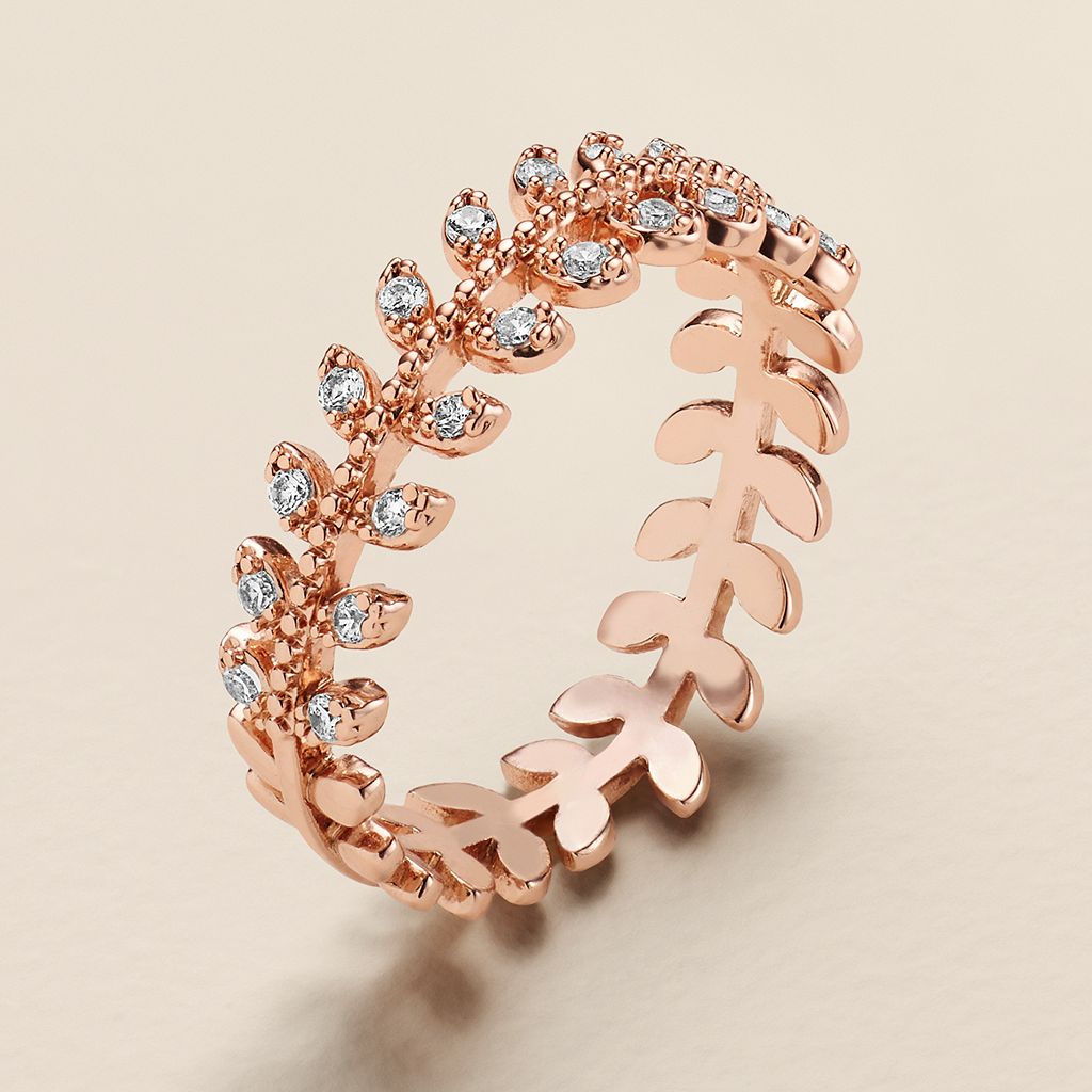 LC Lauren Conrad Runway Collection Cubic Zirconia Branch Ring