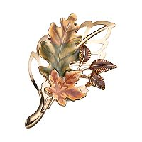Openwork Harvest Leaf Pin
