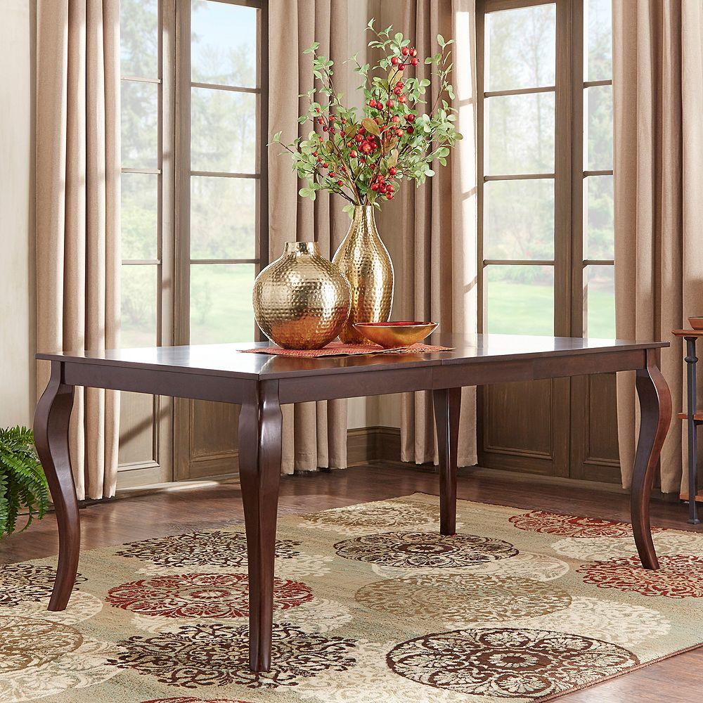 Homevance ogden extendable baluster leg long dining table