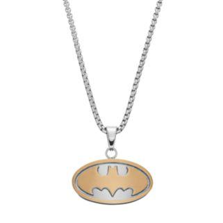 Men's Two Tone Stainless Steel DC Comics Batman Pendant Necklace