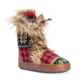 MUK LUKS Women's Juno Knit Boot Slippers