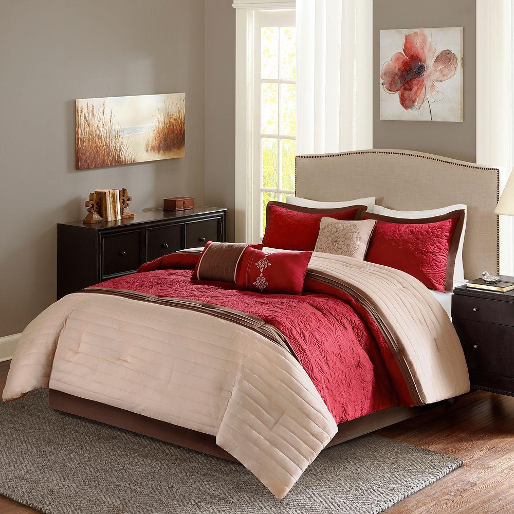 Madison Park Marnie Red 7pieceforter Set
