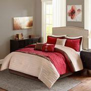 Madison Park Marnie Red 7 pc Comforter Set