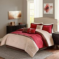 Madison Park Marnie Red 7 pc Comforter Set