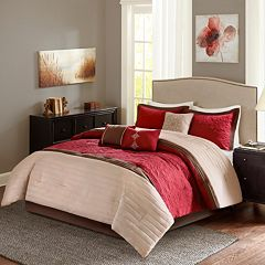 Madison Park Marnie Red 7-piece Comforter Set