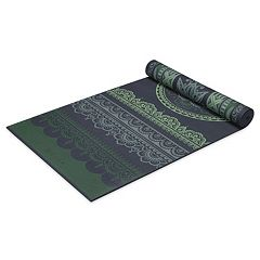 Gaiam 6mm Boho Folk Reversible Yoga Mat