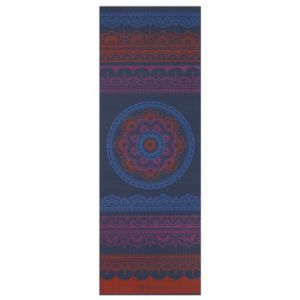 Gaiam 6mm Red Boho Folk Reversible Yoga Mat