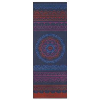 Gaiam 6mm Red Boho Folk Reversible Yoga Mat