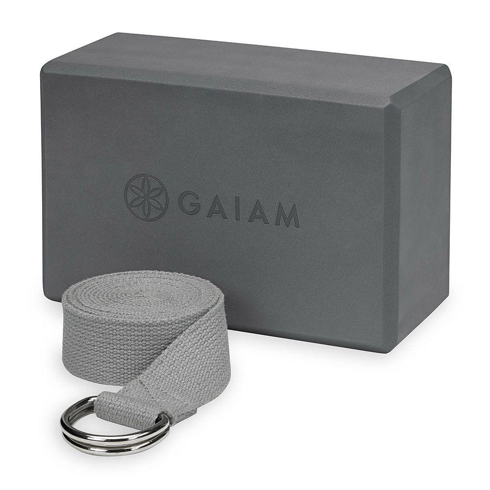 Gaiam Yoga Block & Strap Combo