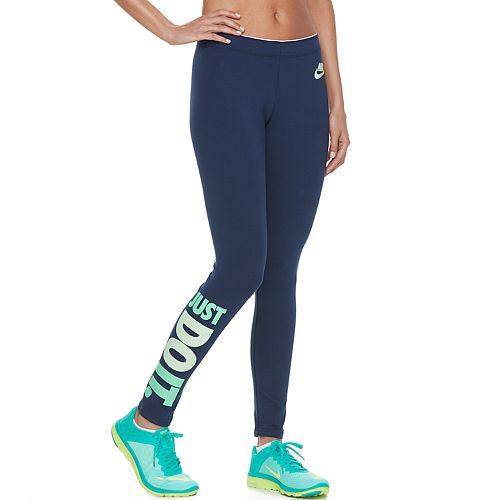 women 39 s nike just do it graphic leggings. Black Bedroom Furniture Sets. Home Design Ideas